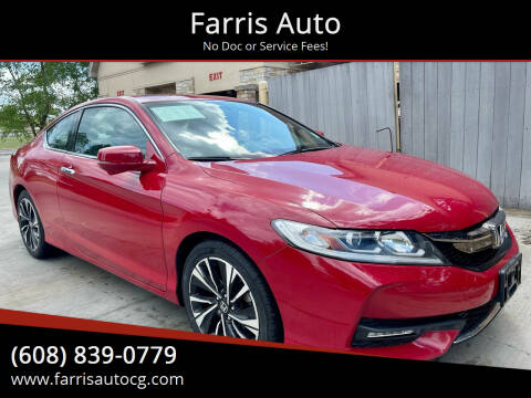 2016 Honda Accord for sale at Farris Auto in Cottage Grove WI
