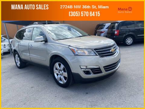 2013 Chevrolet Traverse for sale at MANA AUTO SALES in Miami FL