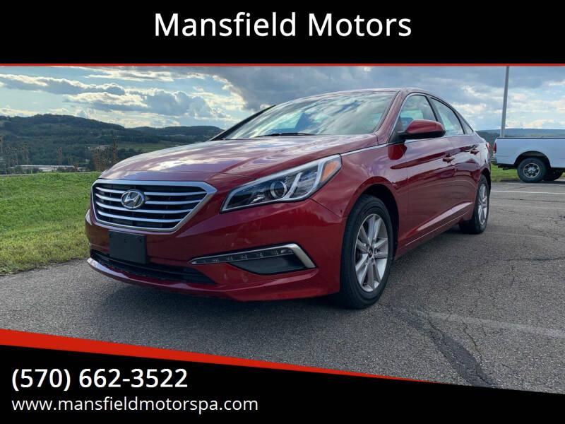 2015 Hyundai Sonata for sale at Mansfield Motors in Mansfield PA