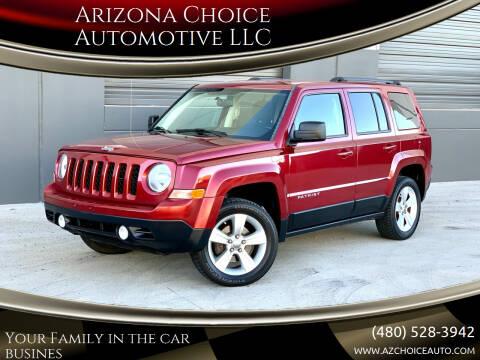 2012 Jeep Patriot for sale at Arizona Choice Automotive LLC in Mesa AZ