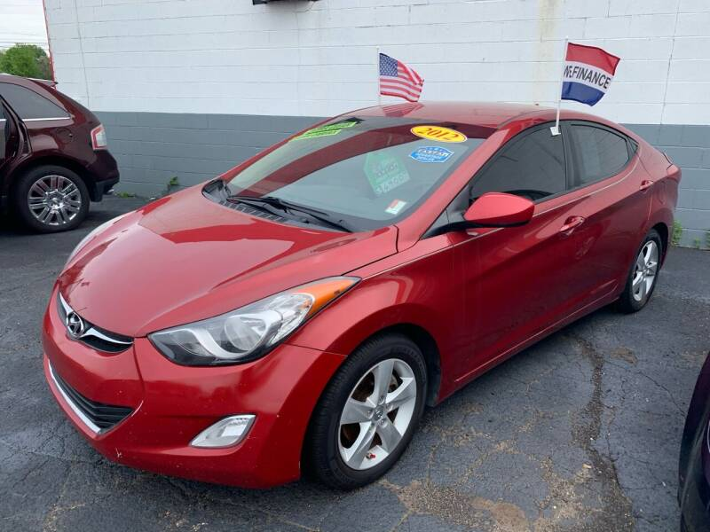 2012 Hyundai Elantra for sale at L&T Auto Sales in Three Rivers MI