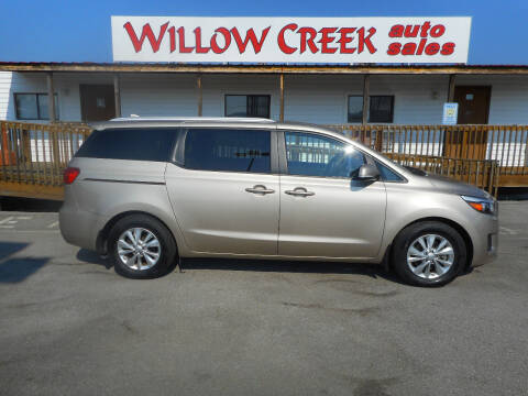 2016 Kia Sedona for sale at Willow Creek Auto Sales in Knoxville TN