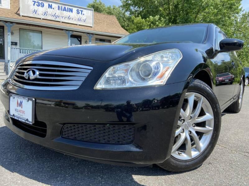 2009 Infiniti G37 Sedan for sale at Mega Motors in West Bridgewater MA