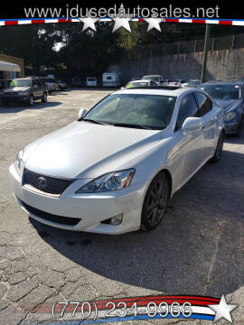 2008 Lexus IS 250 for sale at J D USED AUTO SALES INC in Doraville GA