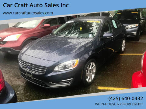2014 Volvo S60 for sale at Car Craft Auto Sales Inc in Lynnwood WA