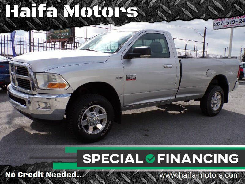 2010 Dodge Ram Pickup 2500 for sale at Haifa Motors in Philadelphia PA