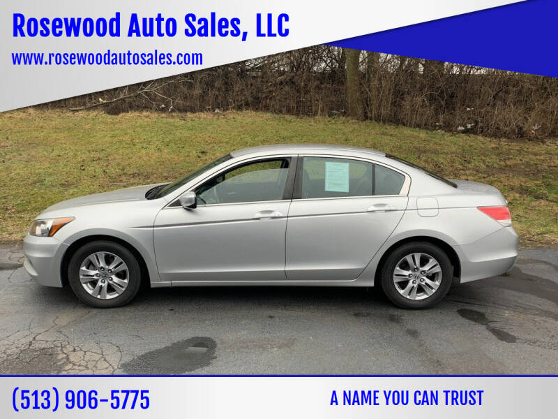 2012 Honda Accord for sale at Rosewood Auto Sales, LLC in Hamilton OH