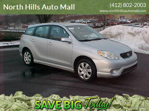 2006 Toyota Matrix for sale at North Hills Auto Mall in Pittsburgh PA
