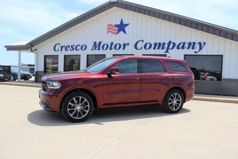 2018 Dodge Durango for sale at Cresco Motor Company in Cresco IA