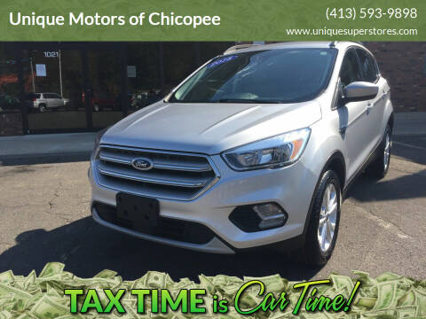 2018 Ford Escape for sale at Unique Motors of Chicopee in Chicopee MA