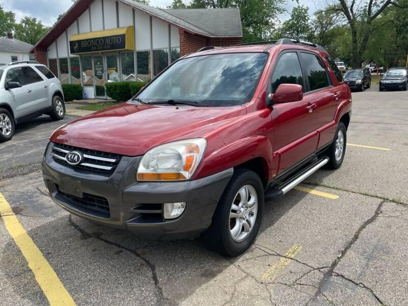 2007 Kia Sportage for sale at Bronco Auto in Kalamazoo MI