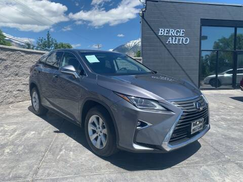 2017 Lexus RX 350 for sale at Berge Auto in Orem UT