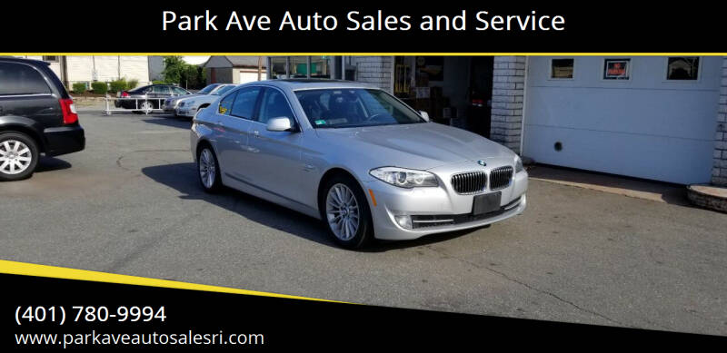 2012 BMW 5 Series for sale at Park Ave Auto Sales and Service in Cranston RI