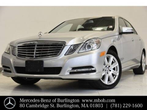2013 Mercedes-Benz E-Class for sale at Mercedes Benz of Burlington in Burlington MA