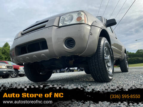 2003 Nissan Frontier for sale at Auto Store of NC in Walkertown NC