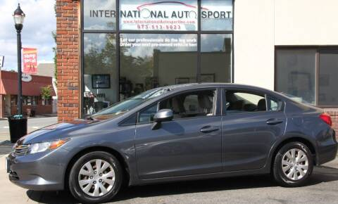 2012 Honda Civic for sale at INTERNATIONAL AUTOSPORT INC in Pompton Lakes NJ
