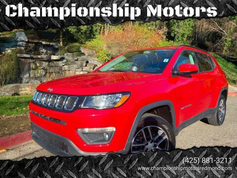 2017 Jeep Compass for sale at Mudarri Motorsports - Championship Motors in Redmond WA