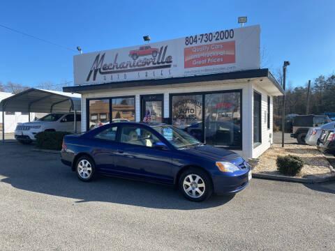 2003 Honda Civic for sale at Mechanicsville Auto Sales in Mechanicsville VA