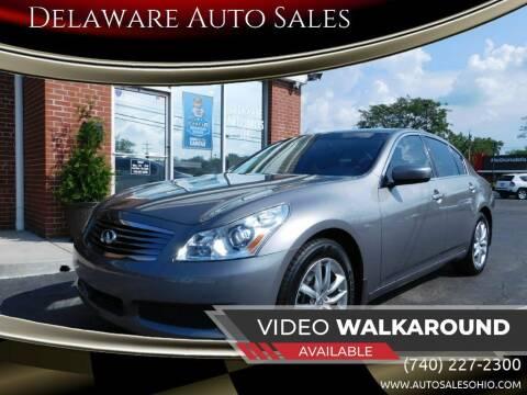 2009 Infiniti G37 Sedan for sale at Delaware Auto Sales in Delaware OH