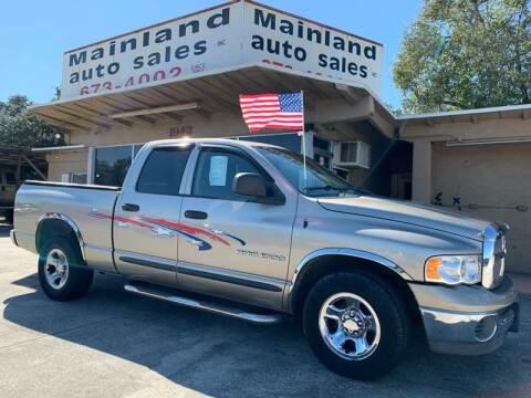 2002 Dodge Ram Pickup 1500 for sale at Mainland Auto Sales Inc in Daytona Beach FL