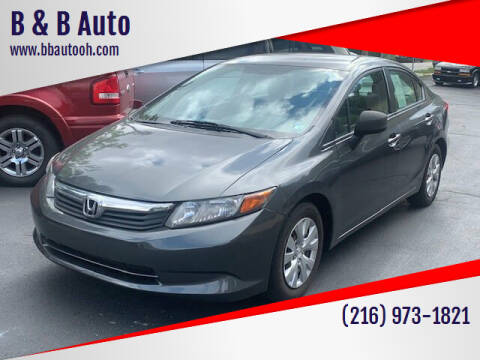 2012 Honda Civic for sale at B & B Auto in Cleveland OH