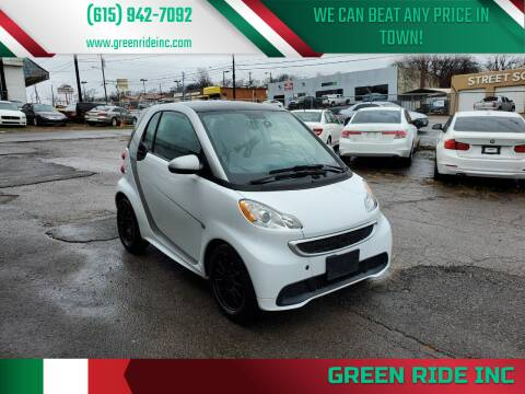 2013 Smart fortwo for sale at Green Ride Inc in Nashville TN