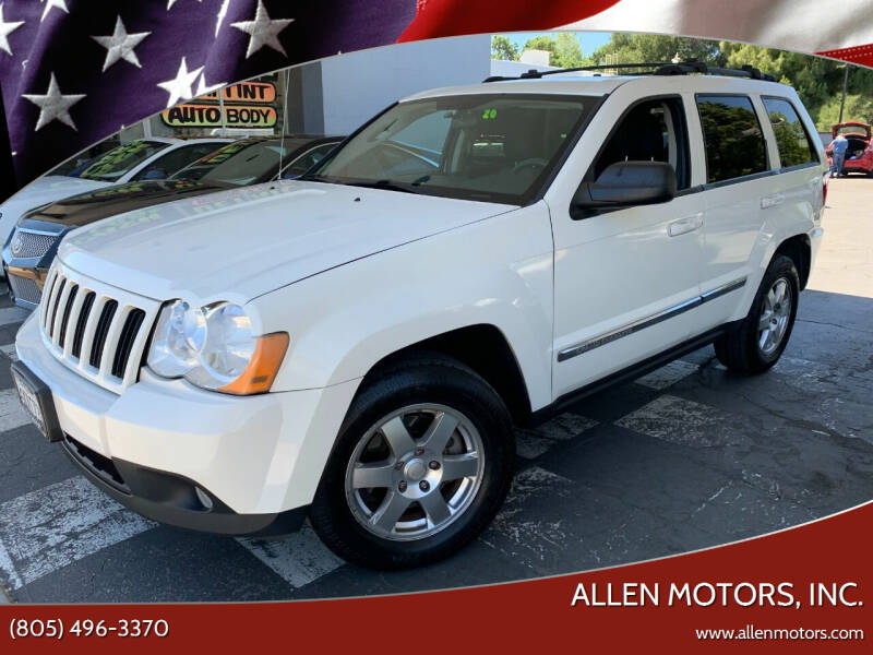 2010 Jeep Grand Cherokee for sale at Allen Motors, Inc. in Thousand Oaks CA