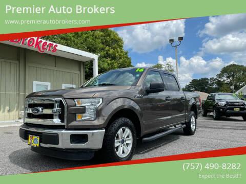 2016 Ford F-150 for sale at Premier Auto Brokers in Virginia Beach VA