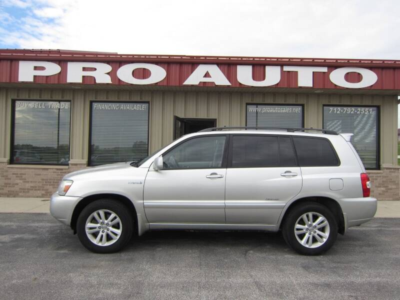 2007 Toyota Highlander Hybrid for sale at Pro Auto Sales in Carroll IA
