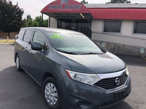2012 Nissan Quest for sale at Choice Motors of Salt Lake City in West Valley  City UT