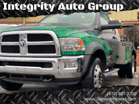 2018 RAM Ram Chassis 4500 for sale at Integrity Auto Group in Westminister MD