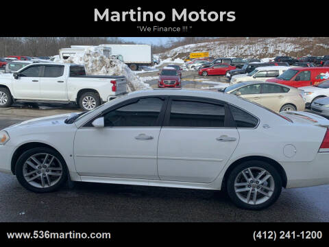 2009 Chevrolet Impala for sale at Martino Motors in Pittsburgh PA