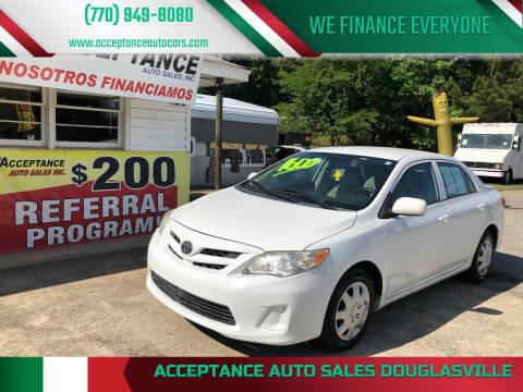 2013 Toyota Corolla for sale at Acceptance Auto Sales Douglasville in Douglasville GA