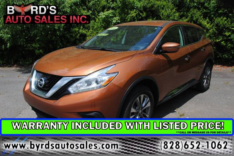 2016 Nissan Murano for sale at Byrds Auto Sales in Marion NC