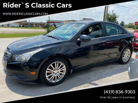 2013 Chevrolet Cruze for sale at Rider`s Classic Cars in Millbury OH