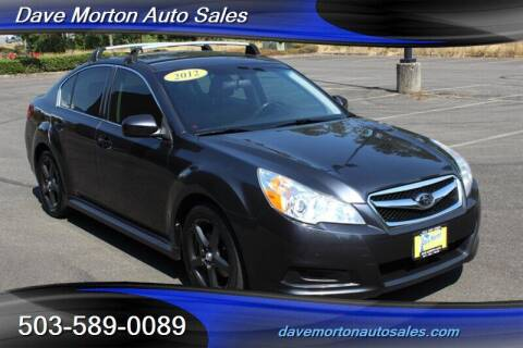 2012 Subaru Legacy for sale at Dave Morton Auto Sales in Salem OR