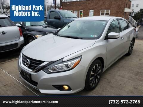 2018 Nissan Altima for sale at Highland Park Motors Inc. in Highland Park NJ