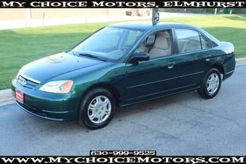 2001 Honda Civic for sale at My Choice Motors Elmhurst in Elmhurst IL