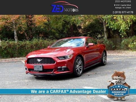 2015 Ford Mustang for sale at Zed Motors in Raleigh NC