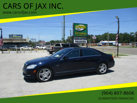 2012 Mercedes-Benz S-Class for sale at CARS OF JAX INC. in Jacksonville FL