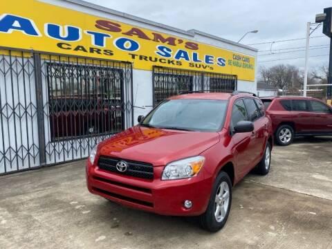2008 Toyota RAV4 for sale at Sam's Auto Sales in Houston TX