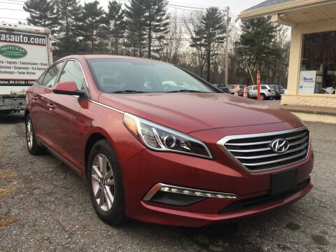 2015 Hyundai Sonata for sale at Motuzas Automotive Inc. in Upton MA