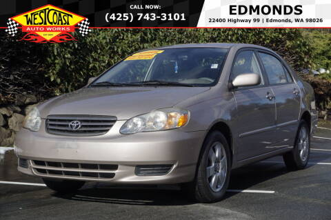 2003 Toyota Corolla for sale at West Coast Auto Works in Edmonds WA