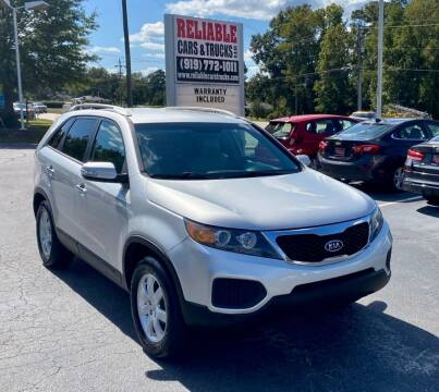 2013 Kia Sorento for sale at Reliable Cars & Trucks LLC in Raleigh NC