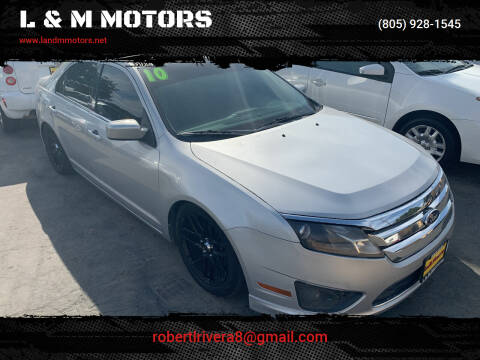 2010 Ford Fusion for sale at L & M MOTORS in Santa Maria CA