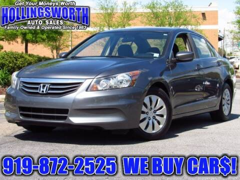 2012 Honda Accord for sale at Hollingsworth Auto Sales in Raleigh NC