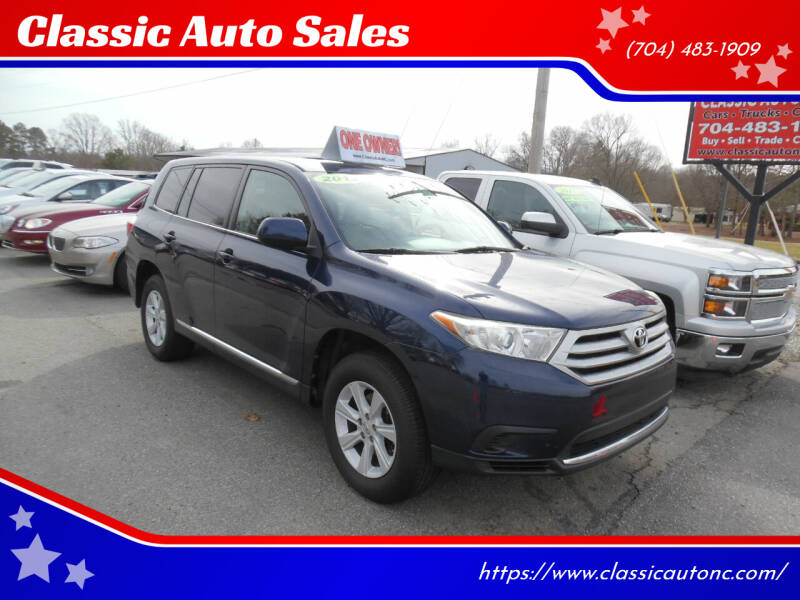 2013 Toyota Highlander for sale at Classic Auto Sales in Maiden NC
