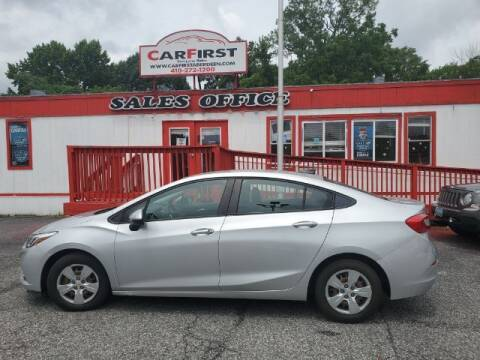 2016 Chevrolet Cruze for sale at CARFIRST ABERDEEN in Aberdeen MD