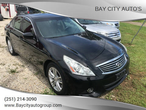 2013 Infiniti G37 Sedan for sale at Bay City Auto's in Mobile AL