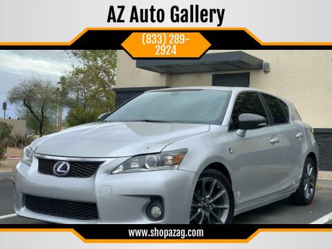 2012 Lexus CT 200h for sale at AZ Auto Gallery in Mesa AZ
